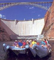 Glen Canyon Dam with Float