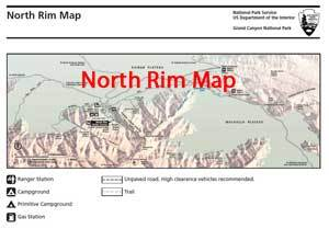 North Rim Map
